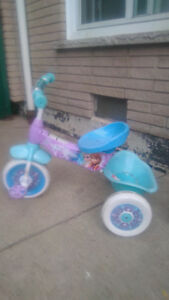 girls tricycle frozen