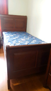 5pc twin bedroom set with mattress and box