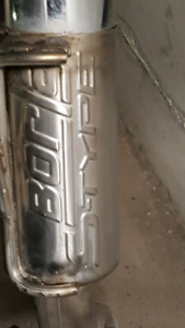borla S type tail pipes with muffler  used only 2 months
