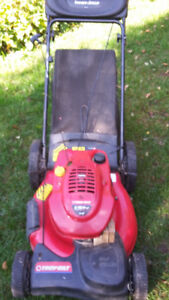 Gas lawn mower Troy Built Self propelled with bag good condition