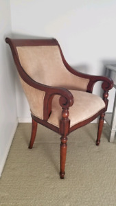 Occasional tan chair from Bombay Co.