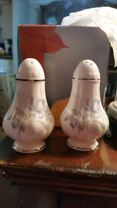 Morning Rose pattern Salt and Pepper shakers