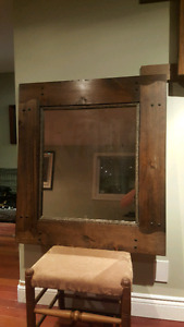 Modern and Rustic wood mirror