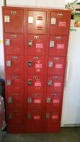 """Five Tier Box Lockers (15) Lockers, each 12"""" wide x 12"""" deep x12"""