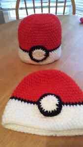 Crochet Pokeball Hats for Kids