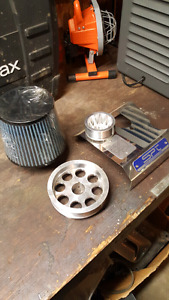 Two pulleys for a Subaru with brand new SPT air intake