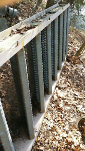 Stairs steel Galvanized with Handrails 7 ft rise