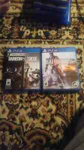 Rainbow Six Seige and Battlefield 4 for PS4