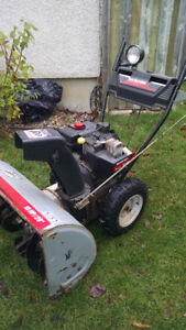 Souffleuse YardMachines MTD 29/10hp snowblower