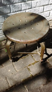 Industrial look, vintage office metal STOOL