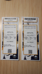 Oilers vs Sabres Tickets - March 4, 2019