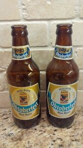 Pair of 1983 & 1984 Vintage Molson Oktoberfest Beer Bottles Kitchener / Waterloo Kitchener Area image 1