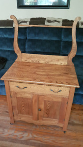 Large wooden wash stand