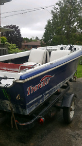16'  boat and trailer
