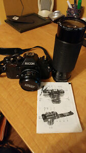 Ricoh KR-5 Super Camera with manual and 2 lens