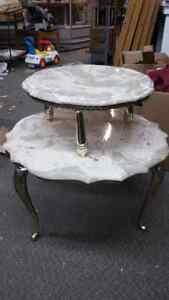 Marble 2 Tier Side Table