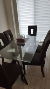 7-pc Glass Kitchen Table