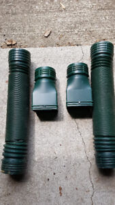 Mole-Pipe 6 Feet Downspout Value 2 Pack