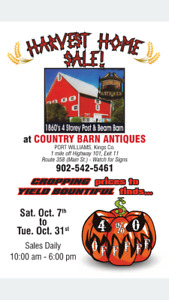 Harvest Home Sale at Country Barn Antiques!