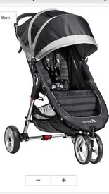 City jogger pushchair with rain cover