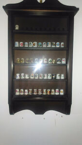 Thimble Cabinet with Thimbles