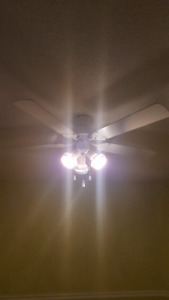 ELEGANT WHITE CEILING FAN WITH LIGHTS FOR SALE!!!