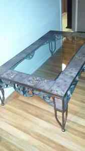Coffee table / one side table / lamp