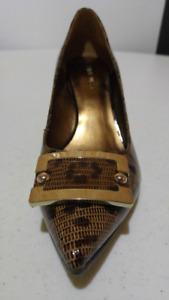NINE WEST Genuine Leather Shoes Lizard Skin / Leopard Spot - NEW