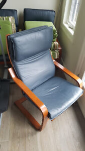 IKEA Leather Lounge Chairs in Perfect Condition!