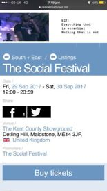 X4 Social festival tickets for sale Entry anytime Friday 15 each