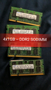 DDR2 Laptop Memory (4x1GB) Working/Tested