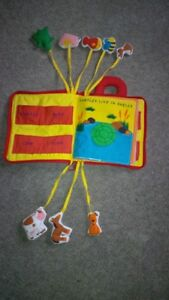 Animal Pockets Fabric Book Cambridge Kitchener Area image 1