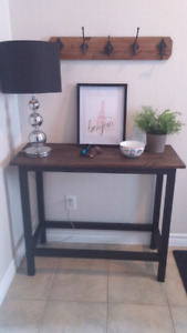 Solid wood custom built console table