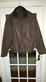 Mens leather coat