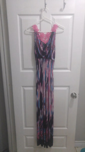 Med floor length summer dress