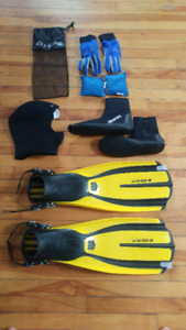 Scuba Diving Gear, Rarely used