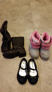 Size 6 Boots and Pair of Shoes