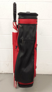 SPALDING GOLF BAG EXCELLENT CONDITION + 6 GOLF CLUBS