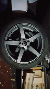 245/45/r19 winter tires and rim package