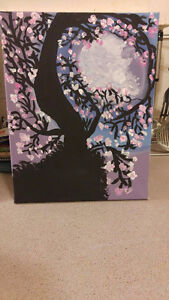 "Original Genuine Abstract painting ""Midnight Moonlight"""