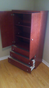 ARMOIRE - Burgundy Gorgeous Armoire - NEW - Never Been Used