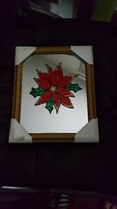 2 MIRRORS WITH CHRISTMAS DESIGN