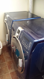 Front loading Washer and Dryer with Deep Steam