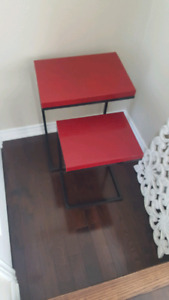Modern Red Nesting Tables