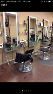 styling chairs/stations/shelves & tool holders 3 units