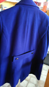 Jessica blue Spring or Fall wool jacket