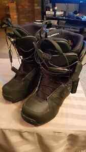 """Solomon """"fusion"""" snowboard boots size 10.5"""