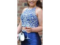 STUNNING TWO PIECE PROM OUTFIT IN ROYAL BLUE RRP £500