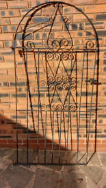 Metal iron gate