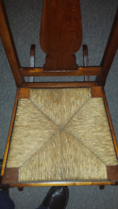 Fiddle back Armless Small Adult Rocking Chair Circa 1920